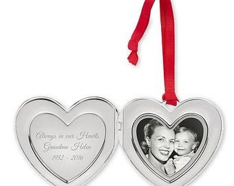 Memorial Photo Locket Ornament