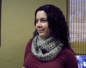 Crochet Infinity Scarf Infused with Reiki