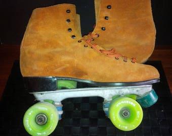 Vintage Suede Roller Skates