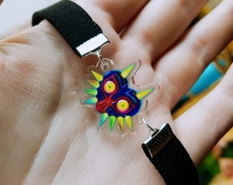 MAJORAS MASK acrylic charm choker, legend of zelda jewelry