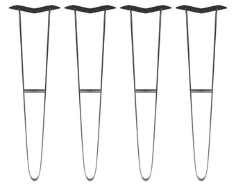 Steel Shutter Folded 70cm Hairpin Table Legs by 'Brooklyn Steelworks'.