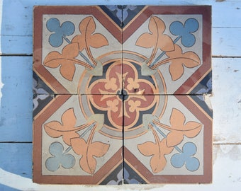 Genuine cement tiles / Villeroy & Boch / Made in France / Art Deco / 30s