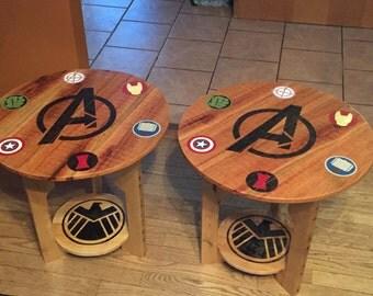 Superhero Avengers Pallet End Table