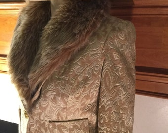 Gold Jacket with fur