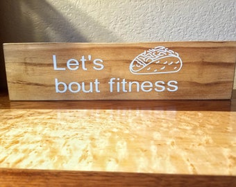 Reclaimed Wood Signs - Fitness