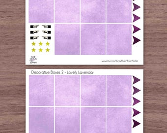 Lovely Lavendar Erin Condren Planner Weekly Sticker Set
