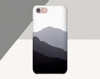 Minimalist Phone Case, iPhone 6 Case, Minimal Gray Black and White, Mountain iPhone Case, Minimal Mountain Phone case, iPhone 7 Case, SE