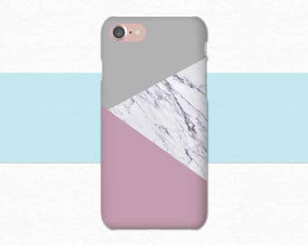 Gray Pink Marble Phone Case, iPhone 6 Case iPhone 6S 7 Plus Marble iPhone Case, Marble Galaxy S6 Case Edge Plus LG G5 Case Galaxy S7 Edge