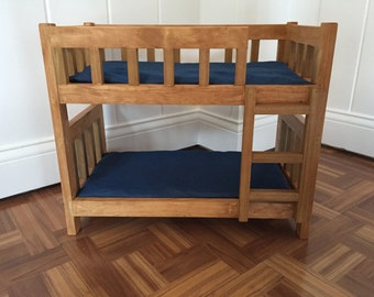 """18"""" doll handcrafted bunkbeds with mattresses"""