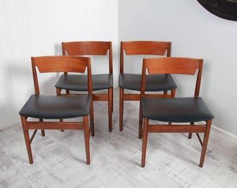 REDUCED: Set of Four GFM Dining Chairs Gościcińska Fabryka Mebli (GFM-7940)
