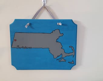 Berkshire Massachusetts wooden sign