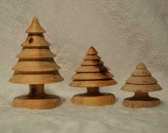 3 christmas tree set - babies!