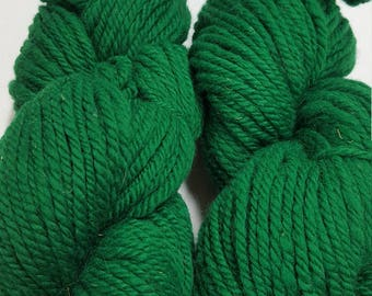 3 Ply Bulky Yarn, Emerald Green