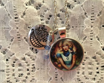Alice Necklace/Alice Jewelry/Alice in Wonderland Charm Pendant Necklace