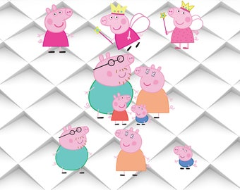 PEPPA PIG SVG svg,jpg,eps,psd,ai for Design/Print/ Silhouette Cameo/Cricut& Many More