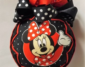 Minnie Mouse Quilted Ornament