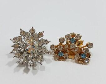 Simply Charming Petite Vintage Rhinestone Pins!