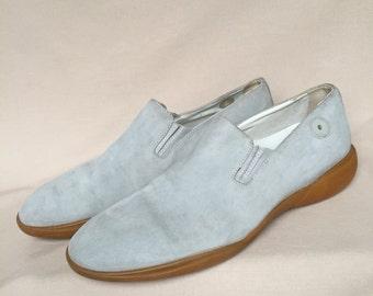 Pour homme mocassins 10.5 / Louis vuitton shoes / 90 s mocassins / hommes mocassins en daim Vintage mocassins / glisser sur chaussures / fabriqué en france