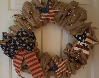 Memorial Day, 4th of July, Labor Day Holiday Wreath