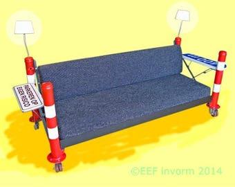 Sturdy Rough Recycle convertibkle (bed) Sofa handmade