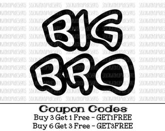 Big Bro Svg Big Brother Svg Sibling Svg PNG files Big Brother Big Bro Little Brother svg files for silhouette cameo svg files for cricut