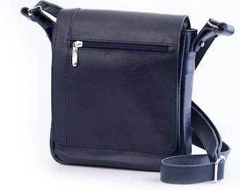 Leather Messenger Bag.Men's messenger bag.Navy Blue Messenger bag.Leather shoulder Messenger bag.Handmade Leather Bag. Messenger bag  (35)