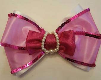 8 inch Pink Princess Bow