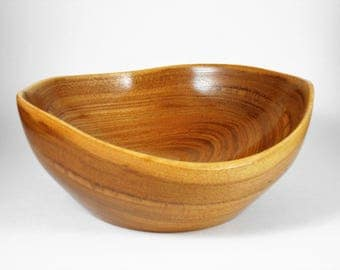 natural edged bowl of red elm