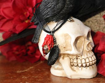 The Morrigan Witch Bottle Necklace