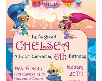 Shimmer and Shine Invitation