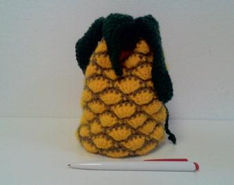 knitted bag Pineapple / вязанная сумка Ананас