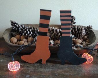 Handmade Cute Halloween Witch Boot Cutout