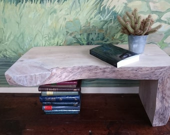 Live edge side table, end table, coffe table, plant stand