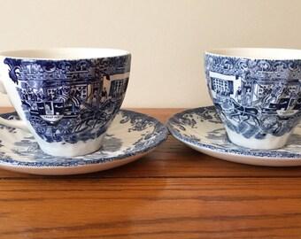 Tally Ho teacups and saucers