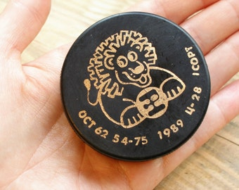Soviet vintage hockey puck Hockey gifts for boys NHL junior sports UNUSED old hockey gift for children Soviet sports Collectible gifts