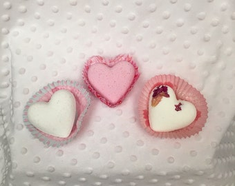 Heart Shaped Bath Bombs- 3 Pack