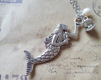 Mermaid necklace ~ silver ~
