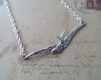 Swallows necklace ~ silver ~