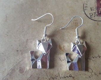 Geometry Fox earrings ~ silver ~