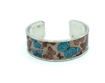 Resinated Butterfly Cuff Bracelet
