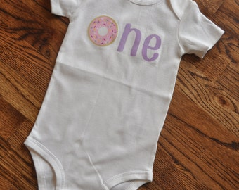 "Donut onesie, donut shirt, cute donut, ""one"" onesie, one shirt, first birthday shirt, shirt"