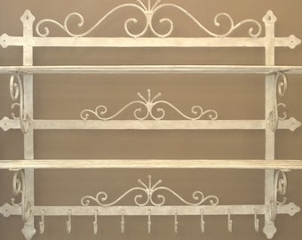 Etagère Boulangère en fer forgé, wrought iron french bakery rack/ wall shelves