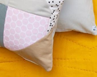 DIAMOND DAZZLER No.1 Stylish Geometric Quilted Pillow