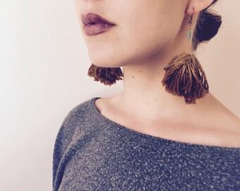 Earth Dye Tassel Earrings