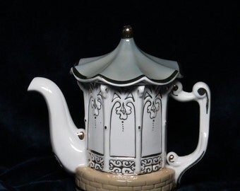 Russian porcelain teapot  factory Kislovodsk porcelain HANDMADE