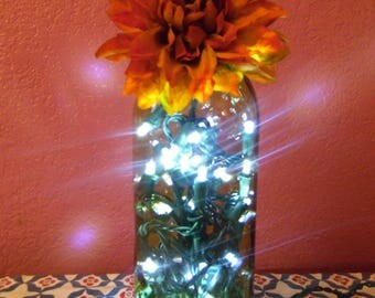 Upcycled Wine Bottle Lamp