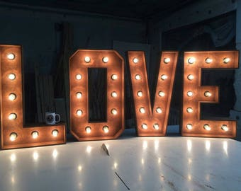 lighting letters. large marquee letter love 32 lighting letters l
