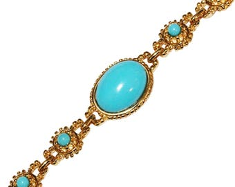 Bracelet VINTAGE - Neo Classic oval Turquoise color