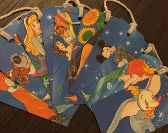 Disney Classics Gift Tags Handmade Old Books Upcycled Birthday