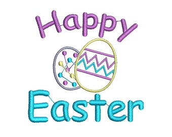 Happy Easter Embroidery Design, Easter Embroidery Design, Baby Embroidery Design, Girl embroidery design, Bunny embroidery design